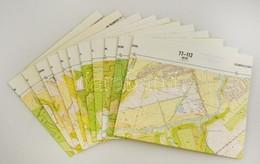 Recsk-Sirok-Verpelét Környéke, 1:10000, 11 Db Topográfiai Térkép - Other Collections