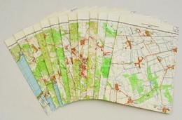 Pápa-Balatonfüred Környéke, 1:50000, 13 Db Topográfiai Térkép - Other Collections