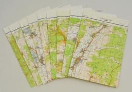 Az Aggteleki-karszt és A Zempléni-hegység (Szögliget-Gönc) Környéke, 1:50000, 9 Db Topográfiai Térkép - Other Collections