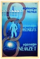 Cca 1930 Börtsök László (?-?): 'Egészséges Munka,egészséges Munkás, Egészséges Nemzet.' Országos Társadalombiztosító Int - Other Collections