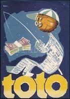 1959 TOTO Dekoratív Kisplakát, Jelzett,szép állapotban, 23,5×17 Cm - Other Collections