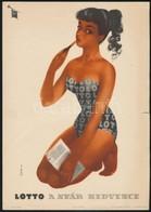 1959 Sinka Mátyás (1921 -): Lotto A Nyár Kedvence, Reklám Villamosplakát, 24x17 Cm - Other Collections