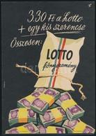 Cca 1960 Káldor László (1905-1963): Lottó Reklám Villamosplakát, 23,5x16,5 Cm - Other Collections