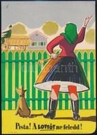 Cca 1960 'Pista! A Lottót Ne Feledd!', Lottó Reklám Villamosplakát, 24x17 Cm - Other Collections