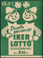 Cca 1960 Iker Lottó Szelvény, Lottó Reklám Villamosplakát, 23x16,5 Cm - Other Collections