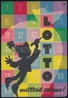 Cca 1960  Macskássy János (1910-1993): 'Milliók öröme!' Lottó Reklám Villamosplakát, 23,5x16,5 Cm - Other Collections