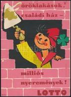Cca 1960  Macskássy János (1910-1993): Lottó Reklám Kisplakát, 21x15,5 Cm - Other Collections