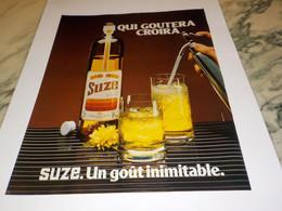 ANCIENNE AFFICHE  PUBLICITE QUI GOURTERA CROIRA SUZE 1980 - Alcohols