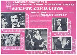 1977 Fekete Gyémántok, Jókai Mór Regénye Kétrészes Filmen, Plakát, Széleinél Szakadások, 46,5x66 Cm - Other Collections