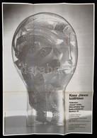 1978 Kass János (1927-2010) Fest? Kiállítási Meghívója és Plakátja Egyben, Hajtott, 46×66 Cm - Other Collections