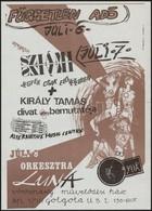 1989 A Fekete Lyuk Alternatív Zenei Klub Dekoratív M?soros Plakátja, Botka Grafikája, Szép állapotban, 41×29,5 Cm - Other Collections
