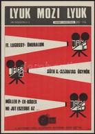 1989 A Fekete Lyuk Alternatív Zenei Klub Dekoratív Mozijának M?soros Plakátja, Szép állapotban, 36×26 Cm - Other Collections