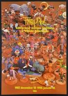 Foky Ottó (1927-2012) Bábtervez? M?vész Kiállítási Plakátja, Hajtott, 68x48 Cm - Other Collections