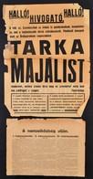 3 Db Különböz? Plakát: Cserkész Tarka Majális; MKP; A Nemzetköziség útján, Sérültek, Különböz? Méretben - Other Collections