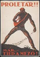Tábor János 'Proletár! Már Tied A Mez?!' Plakátjának Modern Ofszet Reprintje, 28x20 Cm - Other Collections