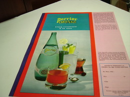 ANCIENNE PUBLICITE PERRIER DRINKS  1967 - Posters