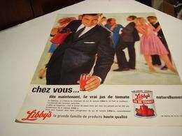 ANCIENNE PUBLICITE JUS DE TOMATE DE LIBBYS 1964 - Affiches