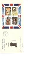 Churchill ( FDC De Antigua Avec BF De 1974 à Voir) - Sir Winston Churchill
