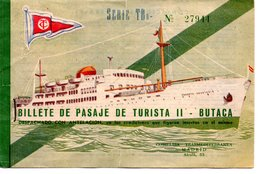 TITRE DE TRANSPORT BILLET COMPAGNIE MADRID TRANSMEDITERRANEA BATEAU BATEAUX - Boat