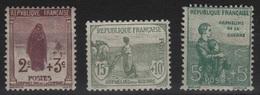 FR 143 - FRANCE N° 148/150 Neufs* Orphelins - Unused Stamps
