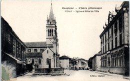 38 - VINAY -- Eglise  Et Hôtel De Ville - Vinay