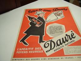ANCIENNE PUBLICITE VIN APERITIF A.DAURE  1953 - Alcohols