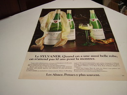 ANCIENNE PUBLICITE VIN SILVANER ALSACE 1980 - Alcohols