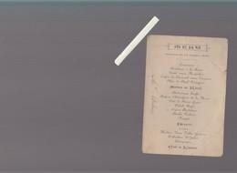 "Menu 1896 - Dejeuner 12 Octobre - Voir état - Vin  ""vieux Vallet"" - Menus"