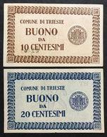 Comune Di Trieste 10 + 20 Cent 1945 Sup/fds LOTTO 1810 - Unclassified