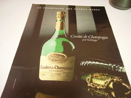 ANCIENNE PUBLICITE COMTE DE CHAMPAGNE DE TAITTINGER 1980 - Alcohols