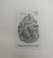 Ex-libris Moderne XXème Illustré -  Allemagne - Couple Sur Un Bateau - Hans Und Liesel LAUT - Bookplates