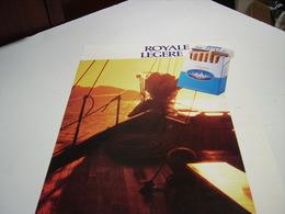 ANCIENNE PUBLICITE CIGARETTE ROYAL LEGERE  1987 - Tabac (objets Liés)