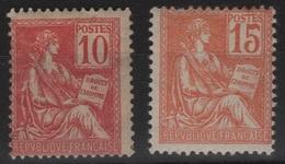 FR 149 - FRANCE N° 116/117 Neufs* Mouchon - 1900-02 Mouchon