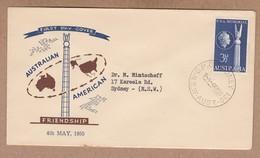 Australia FDC 1955 Australian American Friendship - Postally Used - FDC