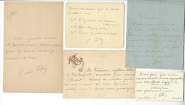 PIERRE LOTI (1850-1923) 5 LAS Ou CDV AUTOGRAPHE ORIGINAL AUTOGRAPH ECRIVAIN /FREE SHIP. R - Autographs