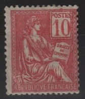 FR 150 - FRANCE N° 112 Neuf* Mouchon - 1900-02 Mouchon