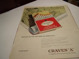 ANCIENNE PUBLICITE CIGARETTE CRAVEN A 1960 - Tabac (objets Liés)