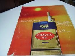 ANCIENNE PUBLICITE CIGARETTE CRAVEN A 1971 - Tabac (objets Liés)