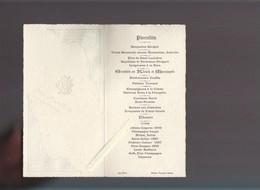 Menu  - 23 Septambre 1905 - Gaufrage Imp Pottin - Menus