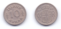 Iceland 10 Aurar 1940 - Iceland