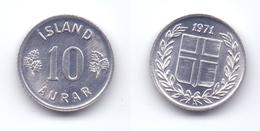 Iceland 10 Aurar 1971 - Islandia