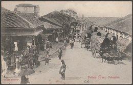 Pettah Street, Colombo, Ceylon, C.1910 - Skeen-Photo Postcard - Sri Lanka (Ceylon)