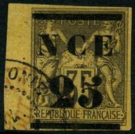 Oblit. N°4 25 Sur 35c Violet-noir S/jaune - TB - New Caledonia