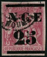 Oblit. N°5 25 Sur 75c Rose, Signé Thiaude - TB - New Caledonia