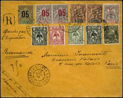 Lettre N°54X2-85-88X2-91/2-97-105X2-106 Lettre Recom De Nouméa  Le 15/11/13 Pour Paris - TB - New Caledonia