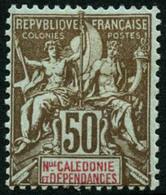 ** N°63 50c Bistre Et Rouge S/azuré - TB - New Caledonia