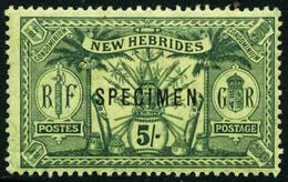 * N°27/37 La Série Surchargés Spécimen Le 35 SG - TB - New Hebrides