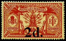 ** N°69 2d Sur 40c Signé Calves - TB - New Hebrides