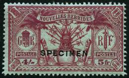 * N°80/90 La Série Surchargée Spécimen - TB - New Hebrides