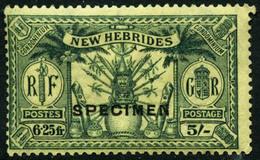 * N°91/9 La Série Surchargée Spécimen - TB - New Hebrides